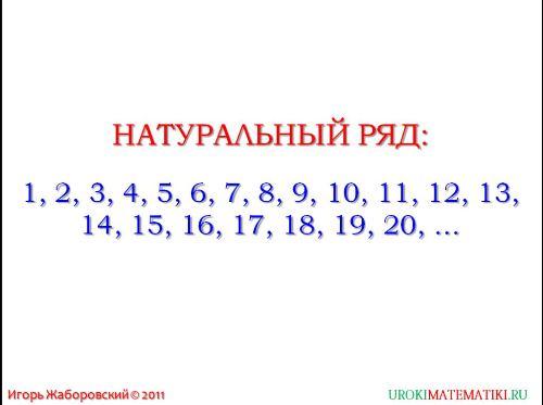 обозначение натуральных чисел рис. 1