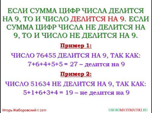 признаки делимости на 9 и на 3 рис. 2