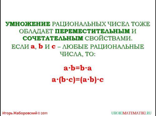 свойства действий с рациональными числами рис. 2