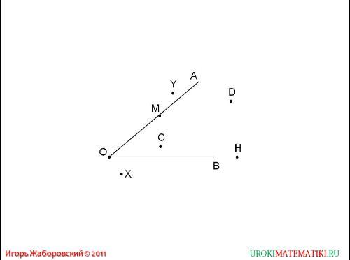 угол, прямой и развернутый угол, чертежный треугольник рис. 2