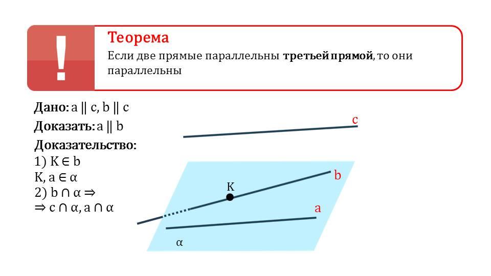 """Презентация """"Параллельность трех прямых"""""""