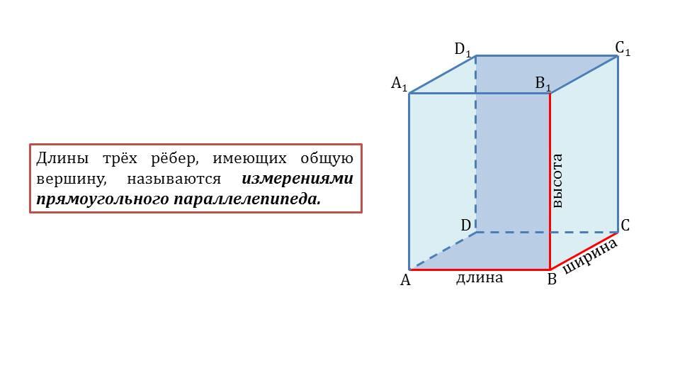 "Презентация ""Прямоугольный параллелепипед"""
