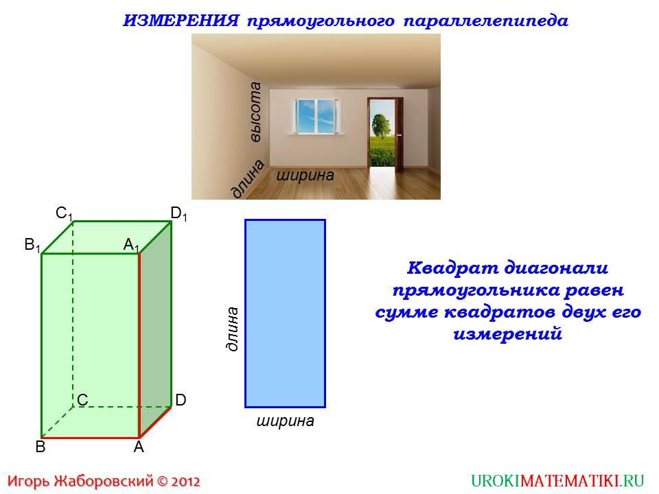 """Презентация """"Свойства прямоугольного параллелепипеда"""""""
