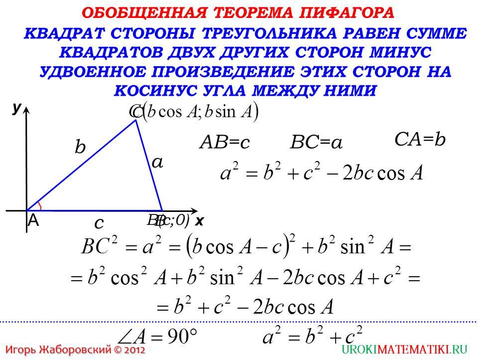 "Презентация ""Теорема косинусов"""