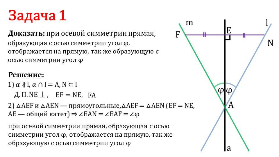 """Презентация """"Движения. Осевая симметрия"""""""