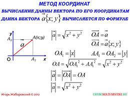 """Презентация """"Простейшие задачи в координатах"""""""
