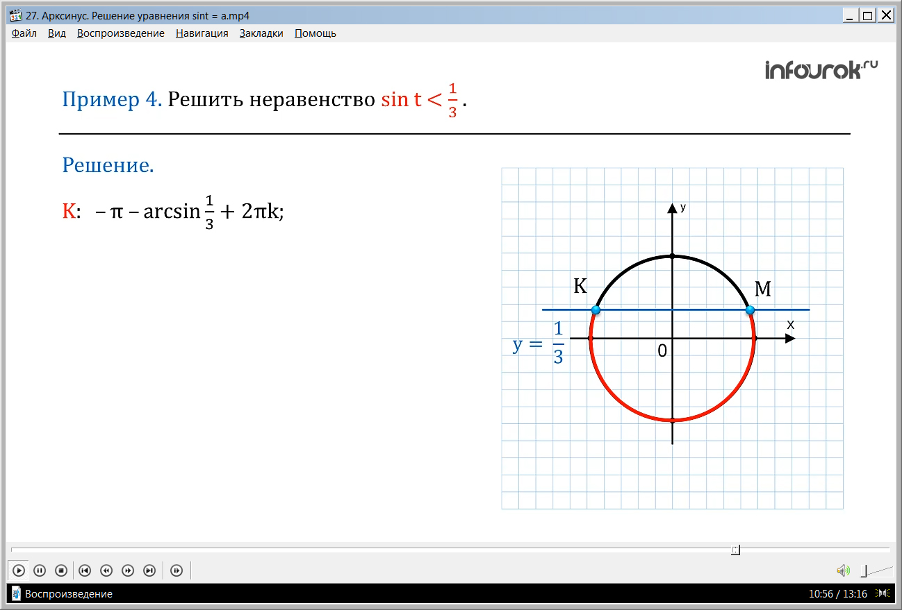 "Урок ""Арксинус. Решение уравнения sint = a"""