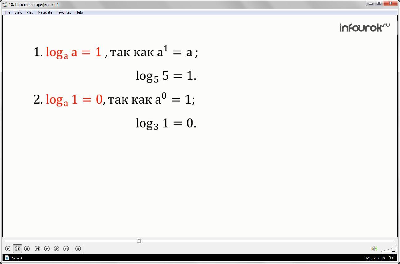 Урок «Понятие логарифма»