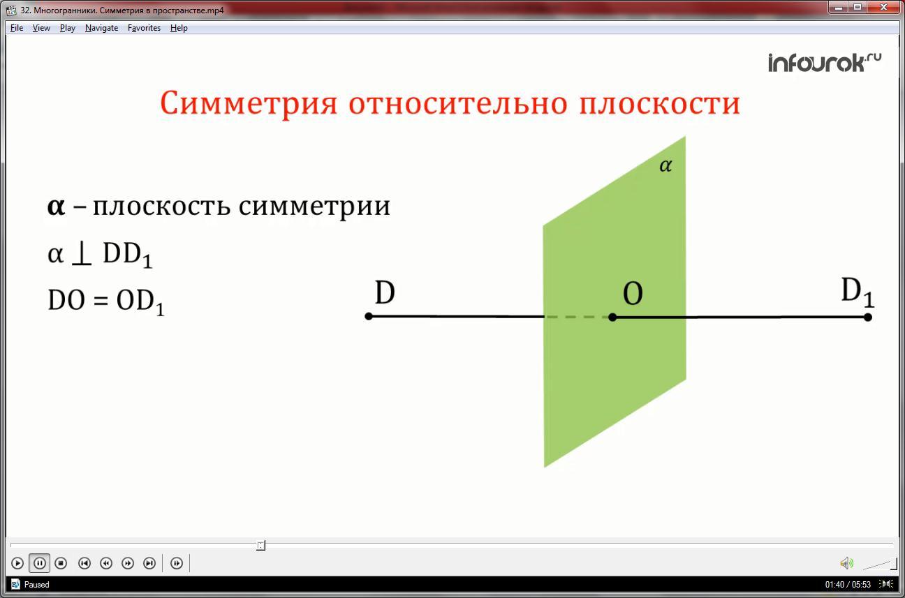 Урок «Многогранники. Симметрия в пространстве»