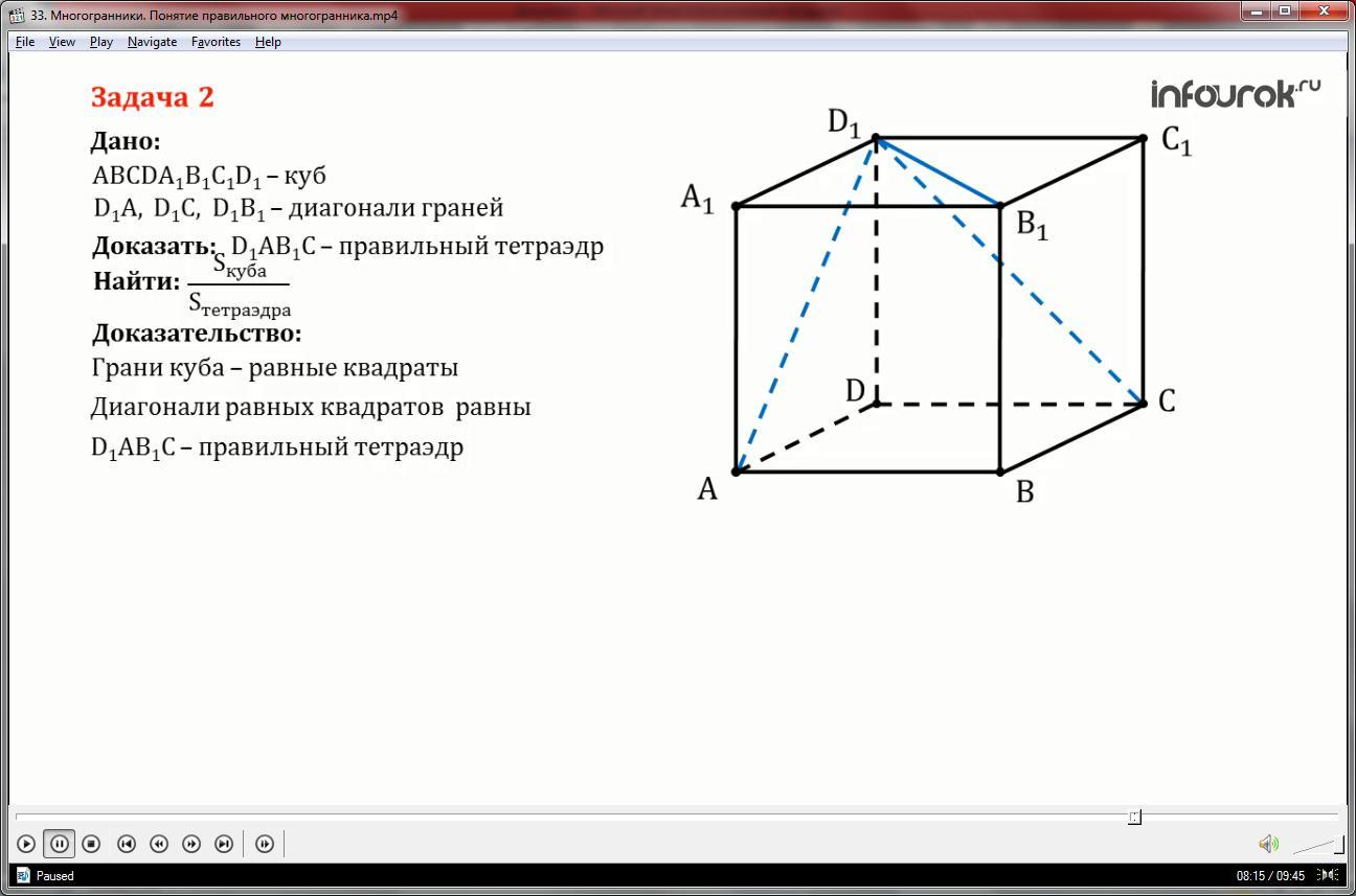 Урок «Многогранники. Понятие правильного многогранника»