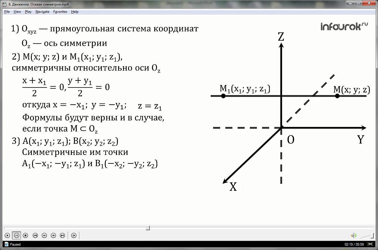 Урок «Движения. Осевая симметрия»