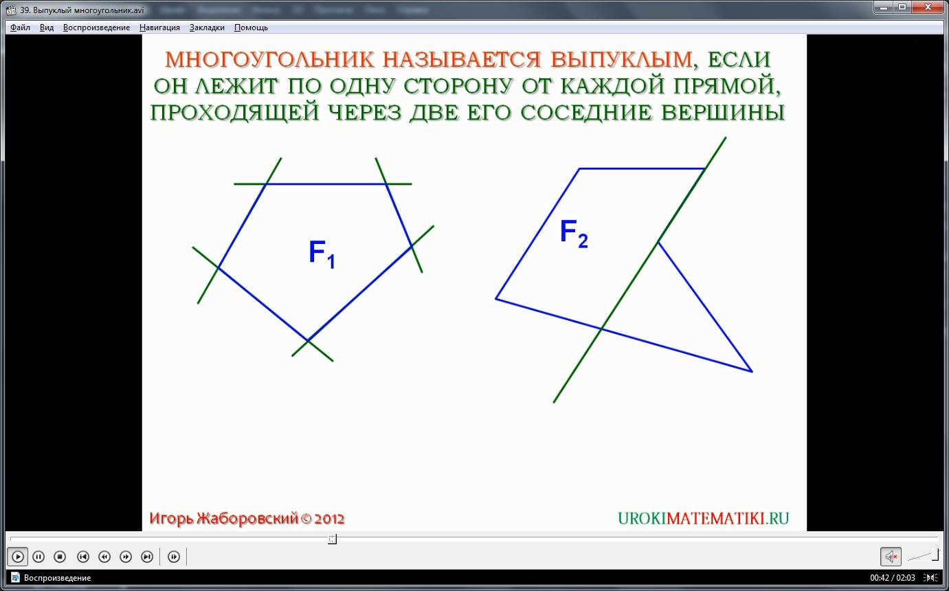 """Урок """"Выпуклый многоугольник"""""""