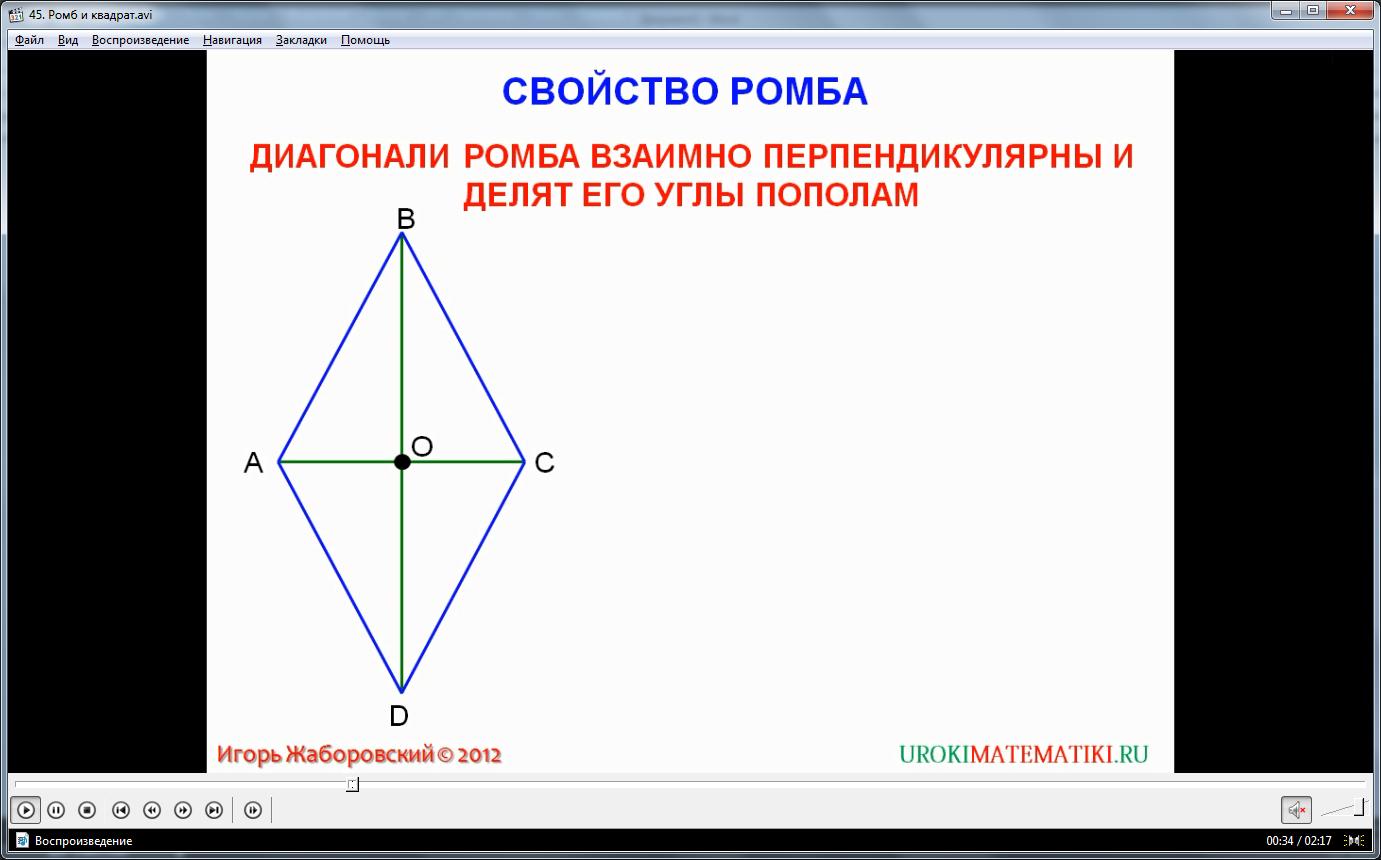 "Урок ""Ромб и квадрат"""