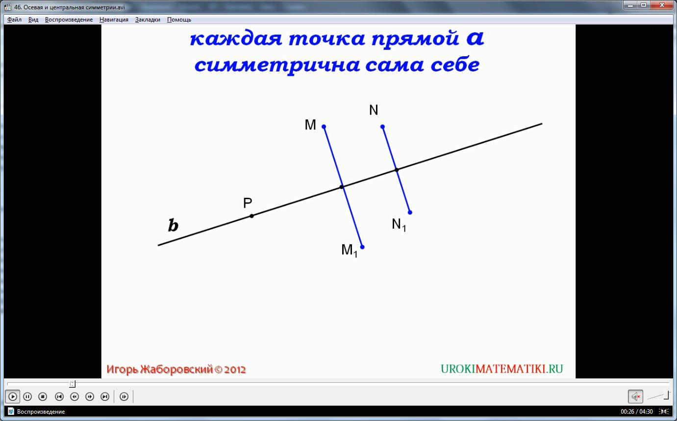 """Урок """"Осевая и центральная симметрия"""""""