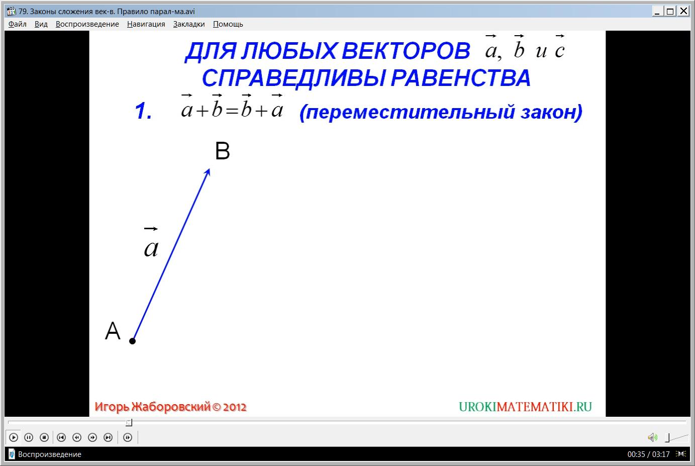 """Урок """"Законы сложения векторов. Правило параллелограмма"""""""