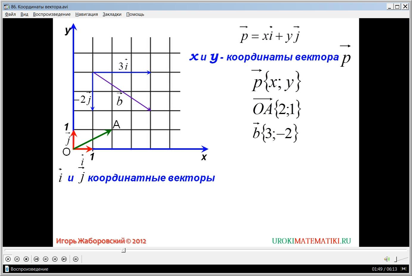 """Урок """"Координаты вектора"""""""
