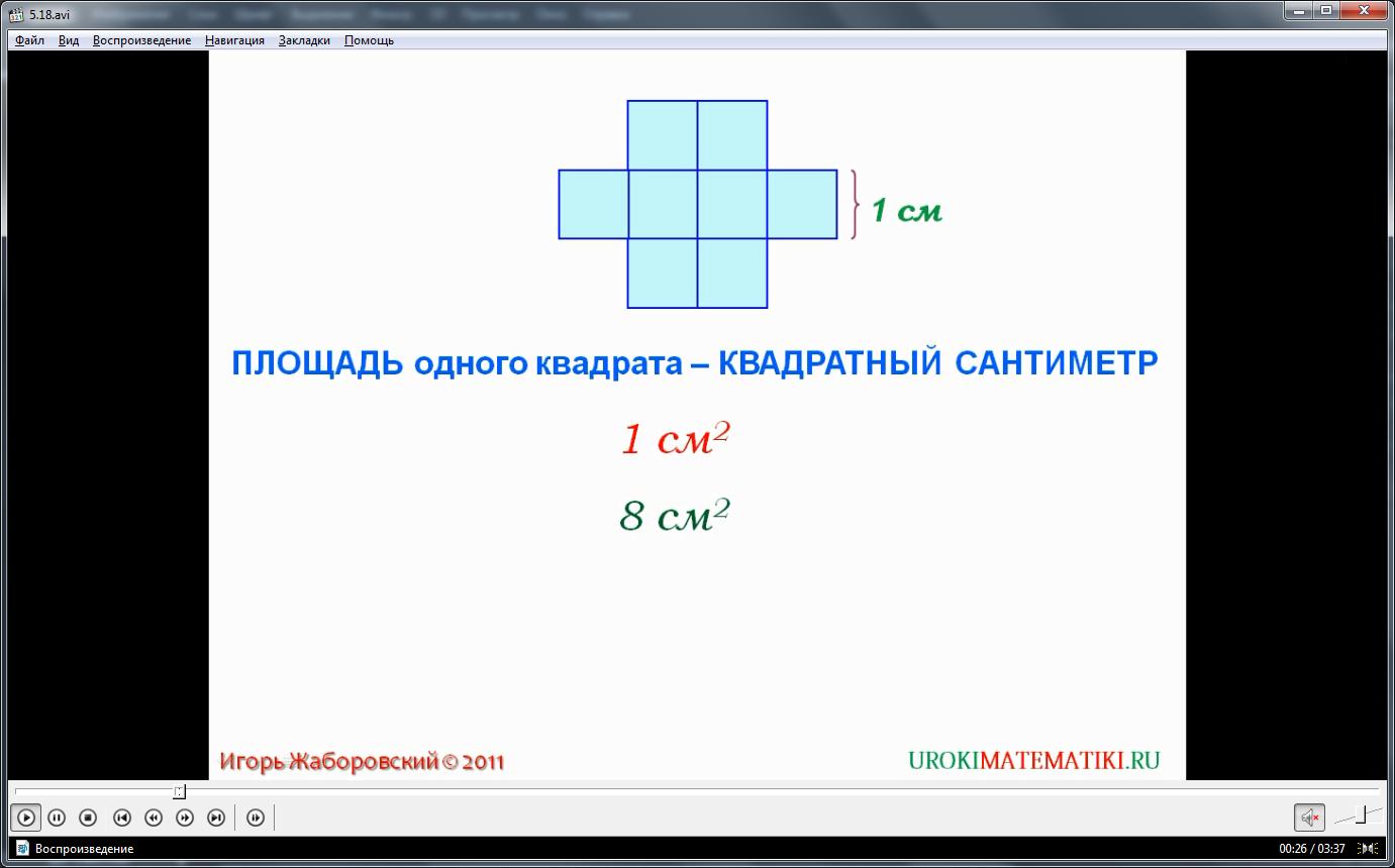 """Урок """"Площадь. Формула площади прямоугольника"""""""