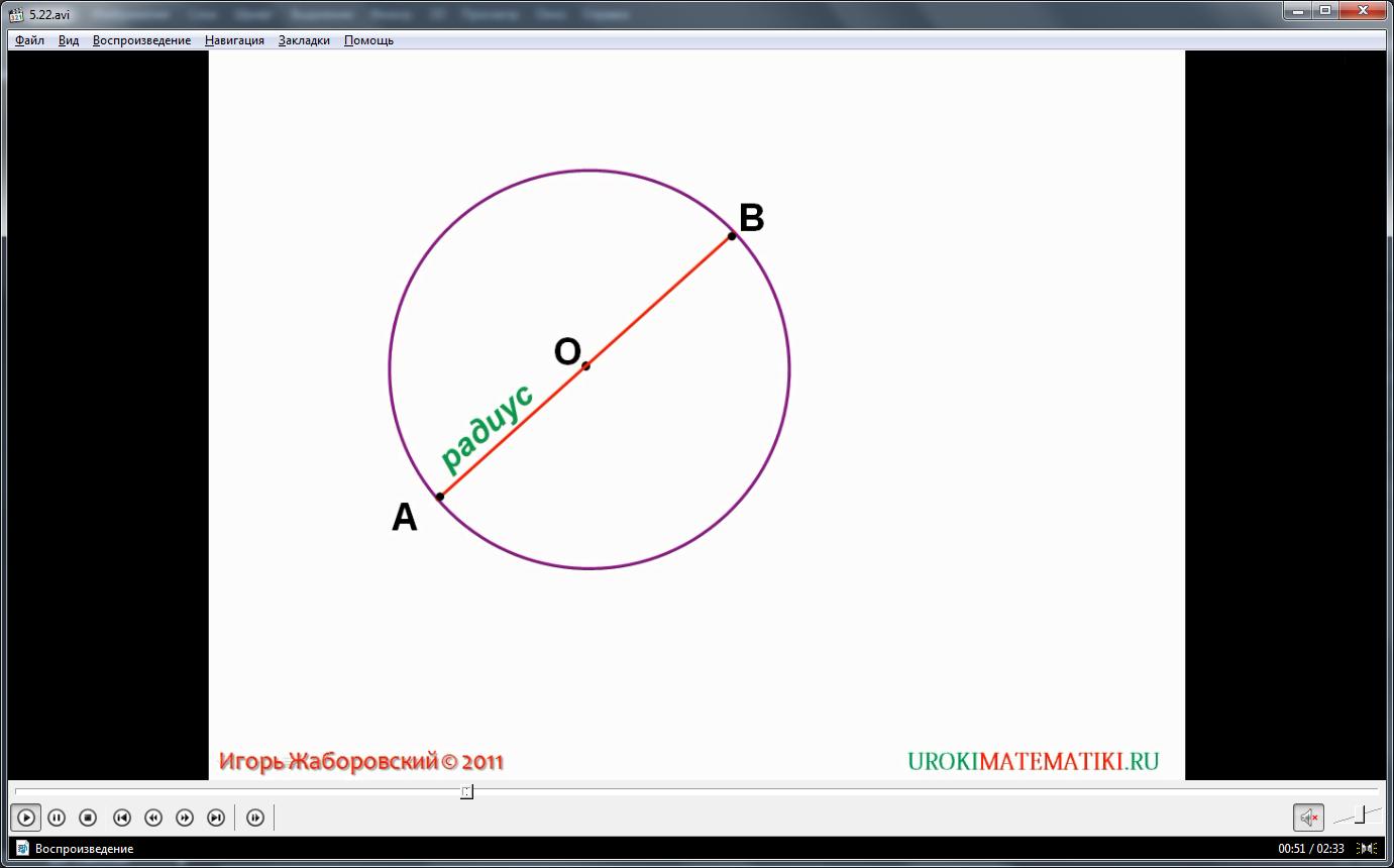 """Урок """"Окружность и круг"""""""