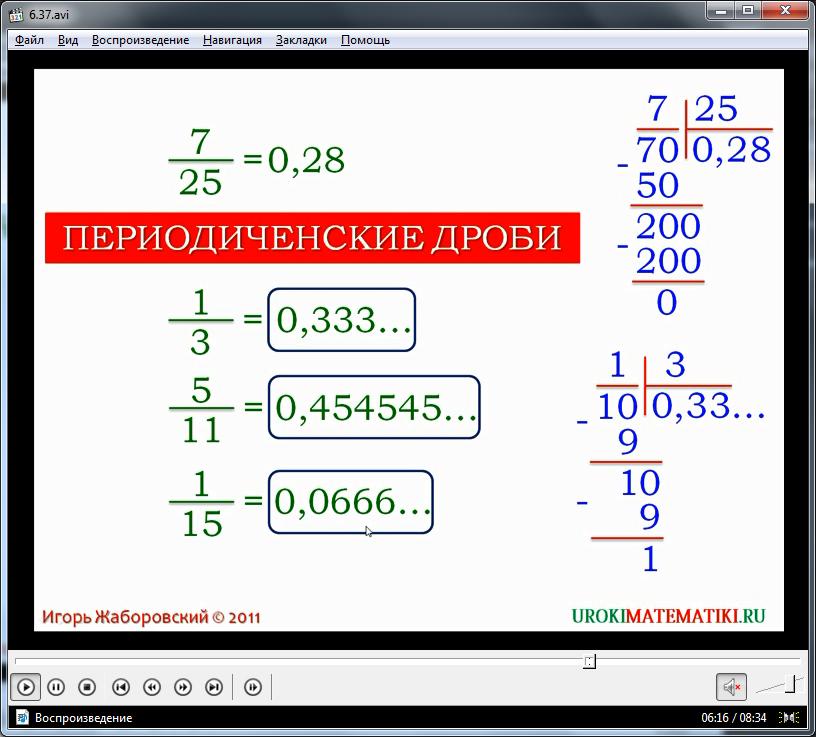 """Урок """"Рациональные числа"""""""