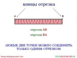 """Презентация """"Отрезок. Длина отрезка. Треугольник"""", слайд 2"""
