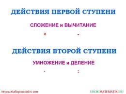 """Презентация """"Порядок выполнения действий"""", слайд 2"""