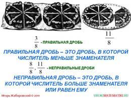 """Презентация """"Правильные и неправильные дроби"""", слайд 3"""