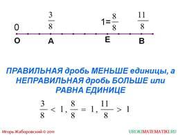 """Презентация """"Правильные и неправильные дроби"""", слайд 4"""