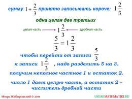 """Презентация """"Смешанные числа"""", слайд 4"""