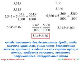 """Презентация """"Сравнение десятичных дробей"""", слайд 4"""