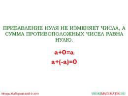 """презентация """"Свойства действий с рациональными числами"""" слайд 3"""
