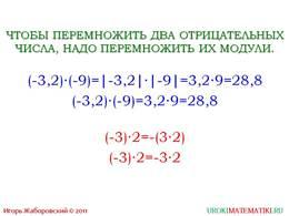 """презентация """"Умножение рациональных чисел"""" слайд 5"""