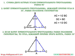 """Презентация """"Некоторые свойства прямоугольных треугольников"""" слайд 2"""