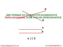 """Презентация """"Определение параллельных прямых"""" слайд 2"""