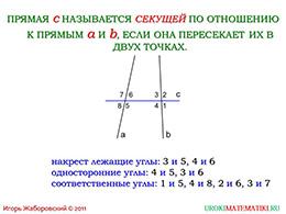 """Презентация """"Признаки параллельности двух прямых"""" слайд 2"""