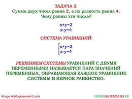 """Презентация """"Система линейных уравнений. Графическое решение системы"""" слайд 3"""