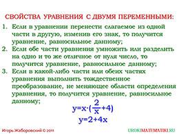 """Презентация """"Уравнения с двумя неизвестными"""" слайд 6"""