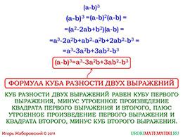 """Презентация """"Возведение в куб суммы и разности"""" слайд 5"""
