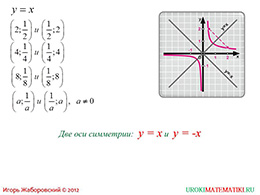"Презентация ""Функция y=k/x и ее график"" слайд 7"