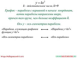 "Презентация ""Функция y=kx^2"" слайд 3"