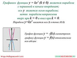 "Презентация ""Функция y=kx^2"" слайд 6"