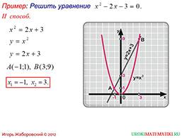 """Презентация """"Графическое решение квадратных уравнений"""" слайд 3"""