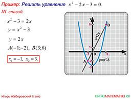 """Презентация """"Графическое решение квадратных уравнений"""" слайд 4"""