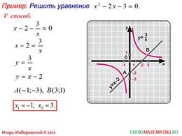 """Презентация """"Графическое решение квадратных уравнений"""" слайд 6"""