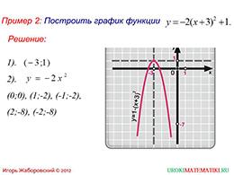 """Презентация """"Как построить график функции у=f(x+l)+m, если известен график функции у=f(x)"""" слайд 3"""
