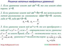 """Презентация """"Квадратные уравнения. Основные понятия"""" слайд 6"""