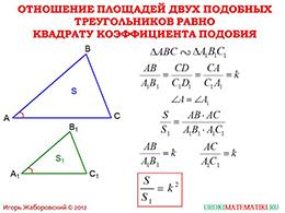 """Презентация """"Отношение площадей подобных треугольников"""" слайд 2"""
