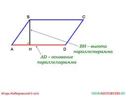 """Презентация """"Площадь параллелограмма"""" слайд 2"""