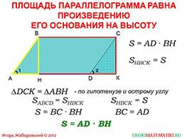 """Презентация """"Площадь параллелограмма"""" слайд 3"""
