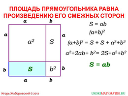"Презентация ""Площадь прямоугольника"" слайд 2"