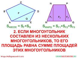 "Презентация ""Понятие площади многоугольника"" слайд 7"